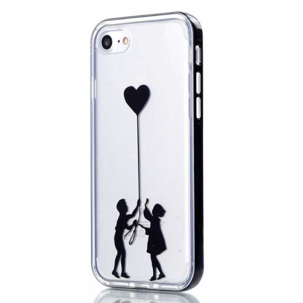 Apple iPhone 7 Hülle - 2in1 Back Cover - Herzballon - yourmobile.ch
