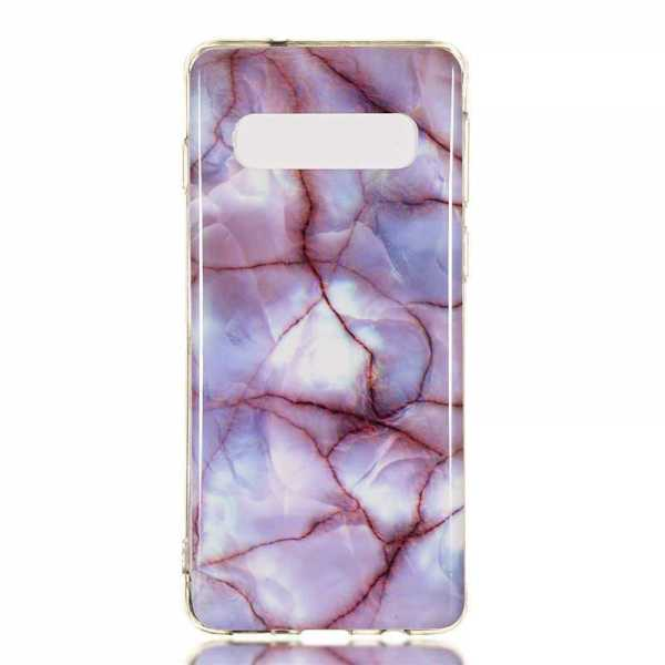 Samsung Galaxy S10 Plus Hülle - Soft TPU Cover - Marble Muster - Perle