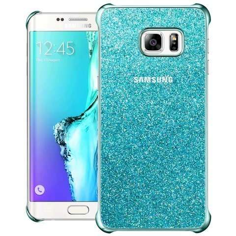 samsung galaxy s6 edge case samsung glitter cover blau. Black Bedroom Furniture Sets. Home Design Ideas