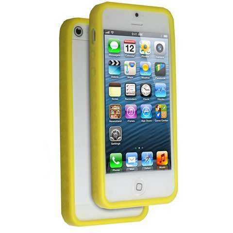Apple iPhone 5 - 5S Bumper - gelb - yourmobile.ch -13429