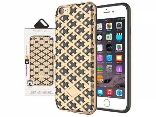 Apple iPhone 7 / 6S 6 Plus Hülle - Mesh Fashion Style Case - gold - yourmobile.ch