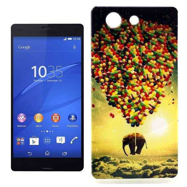 Sony Xperia Z3 Compact Hülle - Soft Case - Elefant mit Ballons - yourmobile.ch 1
