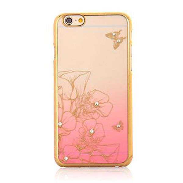 Apple iPhone 6 / 6S Hülle - XO - Rosen Edition - pink-gold - yourmobile.ch