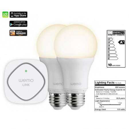 WeMo Smart LED Starter Set - Belkin - WeMo LINK mit 2 LED Birnen - yourmobile.ch 1