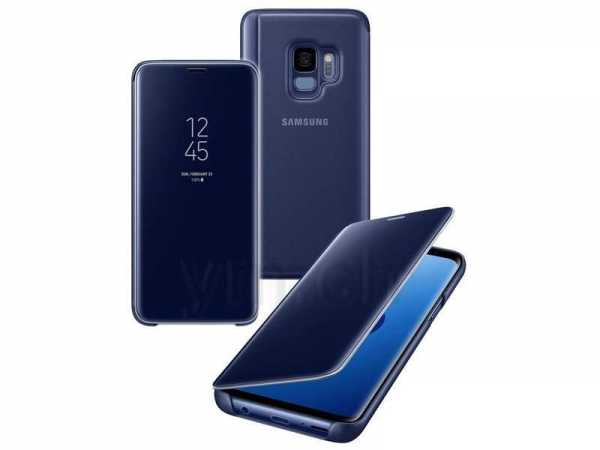 Samsung Galaxy S9 Plus Hülle - Samsung - Clear View Cover - blau
