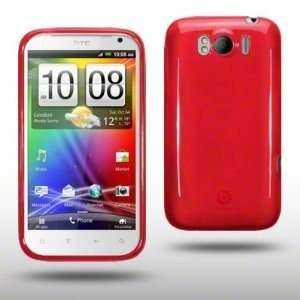 Design GEL Case für HTC Sensation XL, rot (Solange Vorrat)