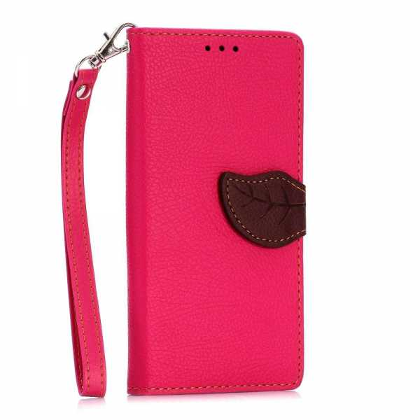 Huawei Ascend P8 Case - BookCase - Strap Rose - pink - yourmobile.ch 2