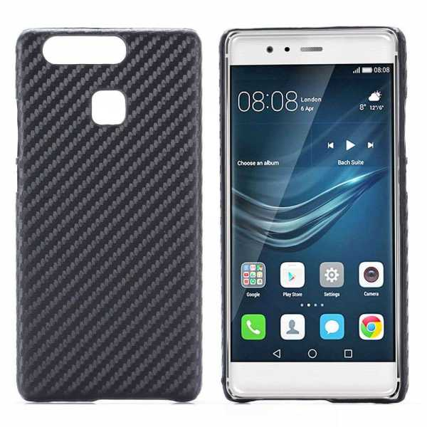 Huawei P9 Hülle - Hard Case - Back Cover - schwarz - yourmobile.ch