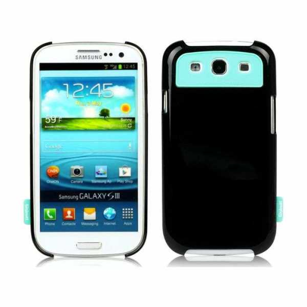 Walnutt by Zenus Milk Bar Cover Real Black Galaxy S3 i9300 WCS3MBRL