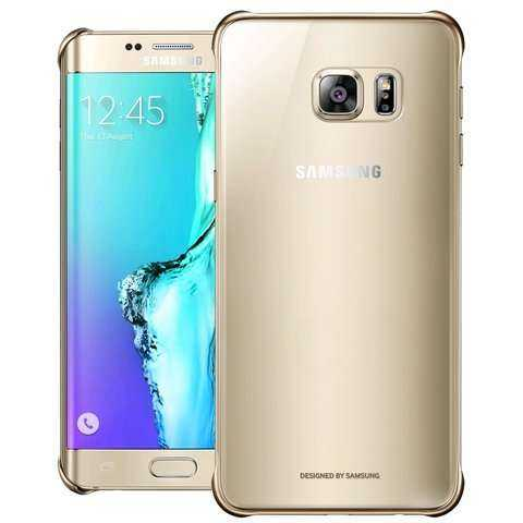 Samsung Galaxy S6 Edge+ Hülle - Samsung - Clear Cover - gold - yourmobile.ch - 26515