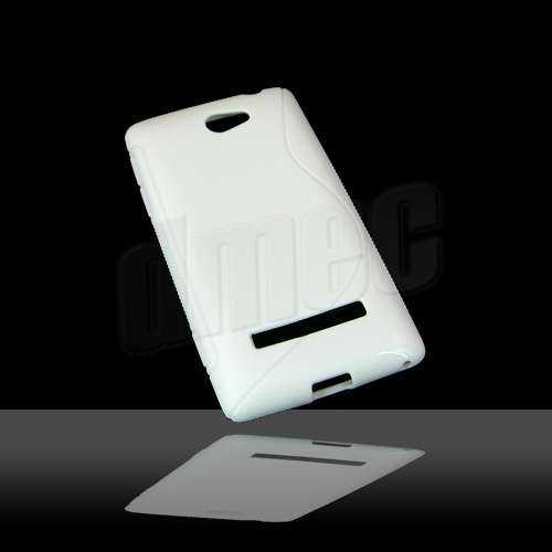 Design Gel Case S-Curve für HTC Windows Phone 8S, weiss