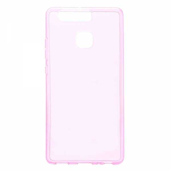 Huawei P9 Hülle - TPU Cover  - transparent-pink - yourmobile.ch
