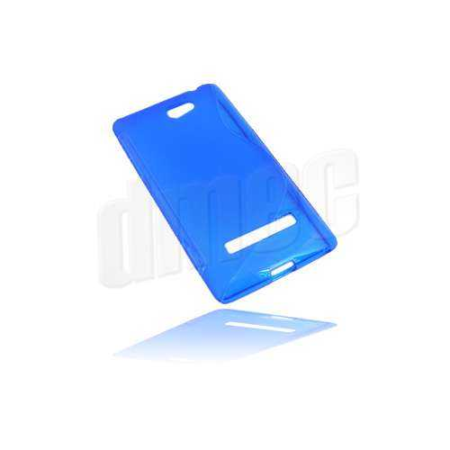 Design Gel Case S-Curve für HTC Windows Phone 8S, blau