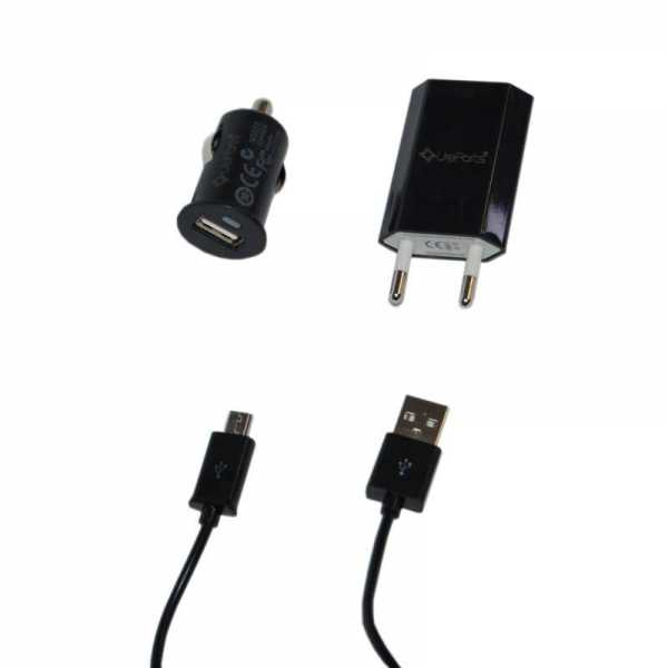 UreParts - Vento Travel Set - 3in1 Combo Charger - microUSB - schwarz - yourmobile.ch