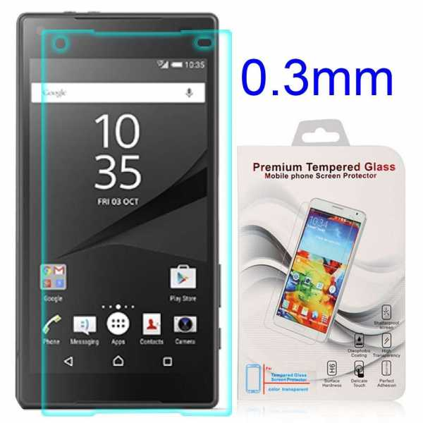 Sony Xperia Z5 Compact Schutzfolie - Tempered Glass - Härtegrad 9H - yourmobile.ch