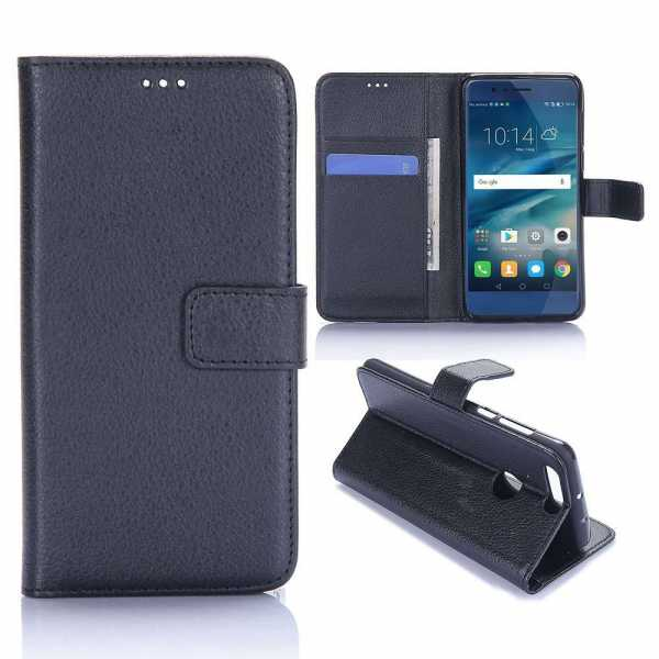 Huawei Honor 8 Case - Book Case Flip Stand - PU-Leder - schwarz - yourmobile.ch