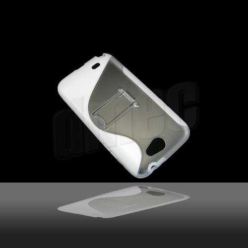 Hard Case S-Curve für Samsung Galaxy Note 2 N7100, weiss/transparent