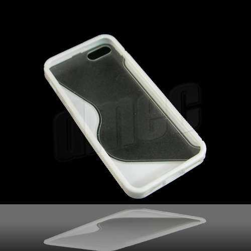 Design Hard Case S-Curve für Apple iPhone SE / 5S / 5 - weiss/transparent