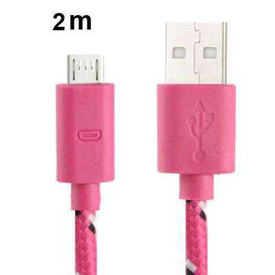 Universal Datenkabel - microUSB - 2 Meter Länge - lila - yourmobile.ch 1