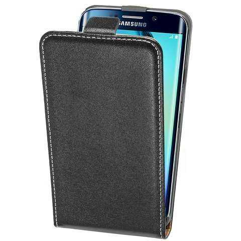 Samsung Galaxy S6 Edge Case - Anco - Slim FlipCase - schwarz - yourmobile.ch - 24759