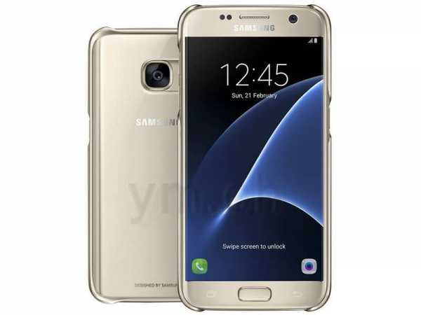 Samsung Galaxy S7 Hülle - Samsung Original - Clear Cover - gold - 28758 - yourmobile.ch