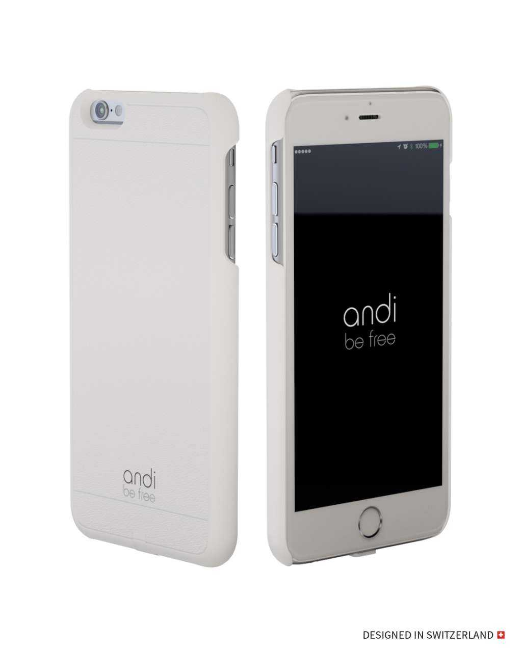 Image of andi be free Apple iPhone 6S Plus / 6 Plus Hülle - Wireless Charging Case - weiss