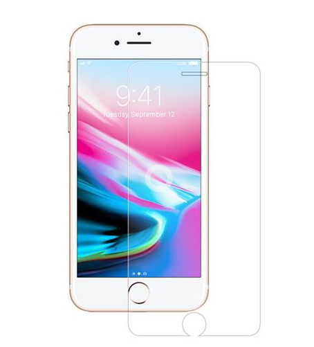 Apple iPhone 8 Plus / 7 Plus / 6S Plus / 6 Plus - 2.5D Flachglas - Härtegrad 9H - transparent