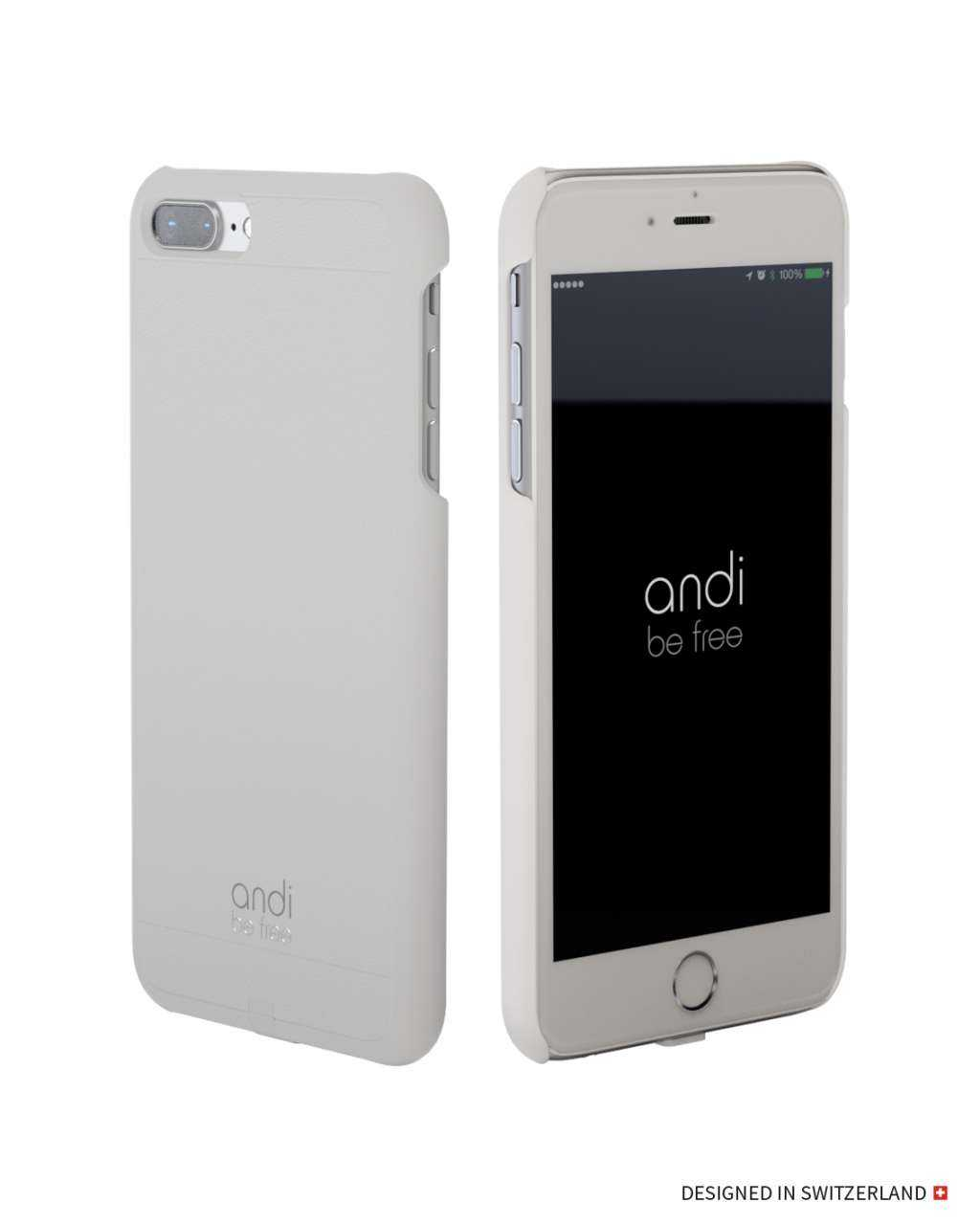 Image of andi be free Apple iPhone 7 Plus Hülle - Wireless Charging Case - weiss