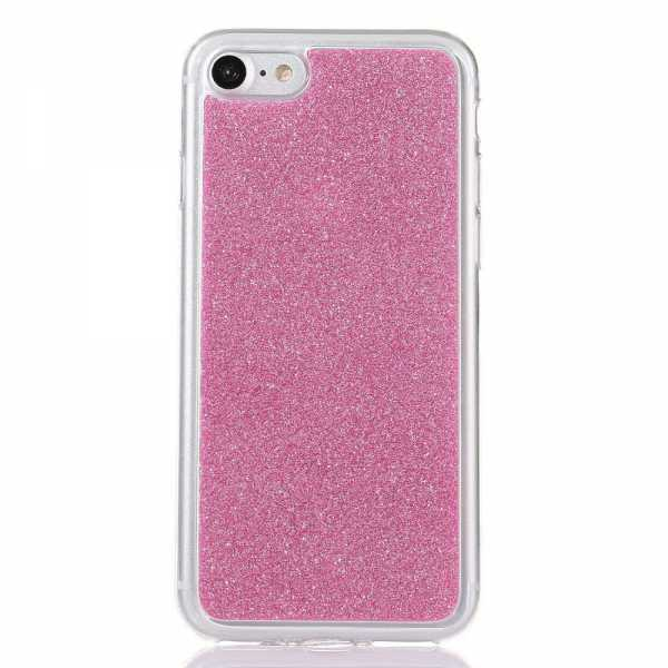 apple iphone 8 7 h lle glitzer softcase pink. Black Bedroom Furniture Sets. Home Design Ideas