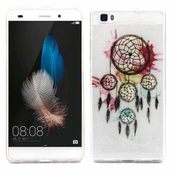 Huawei Ascend P8 Lite Hülle - SoftCase - Traumfänger - yourmobile.ch