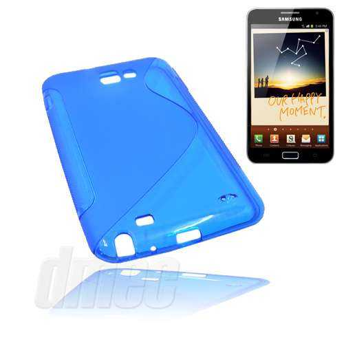 Design Gel Case S-Curve für Samsung Galaxy Note N7000, blau