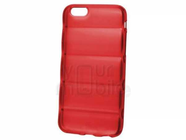 Silikon Case Barell - Apple iPhone 6 Hülle - transparent rot - yourmobile.ch