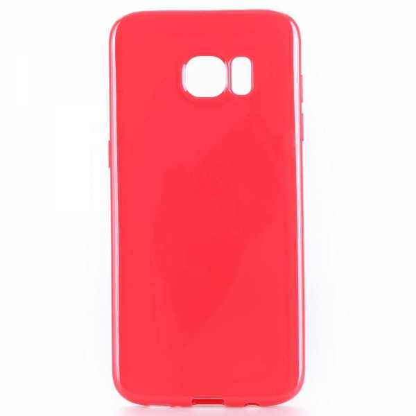 Samsung Galaxy S7 Edge Hülle - TPU Cover - FeatherLine - rot - yourmobile.ch 2