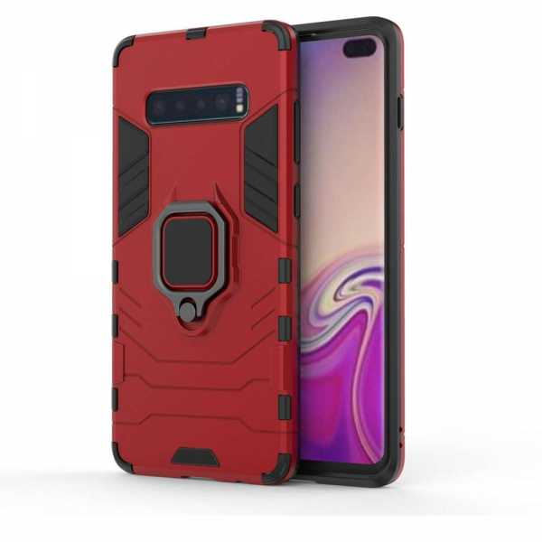 Samsung Galaxy S10 Plus Hülle - Defender Cover - rot