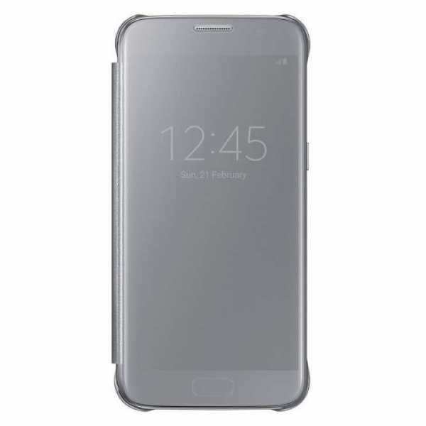 Samsung Galaxy S7 Hülle - Samsung - Clear View Cover - silber - yourmobile.ch