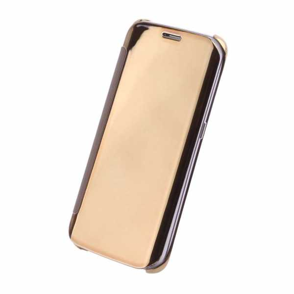 Samsung Galaxy S6 Edge Hülle - UreParts - Luxury Folio BookCase - gold - yourmobile.ch 1