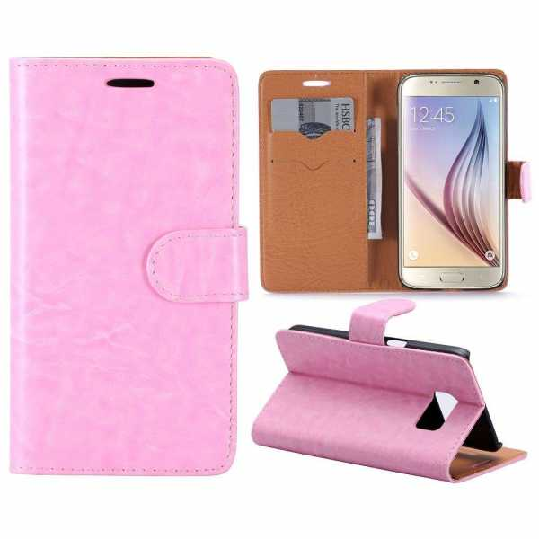 Samsung Galaxy S7 Case - Book Case Flip Stand - PU-Leder - pink - yourmobile.ch