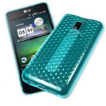 Kunststoff GEL Case für LG P990 Optimus Speed, blau hex (Solange Vorrat)
