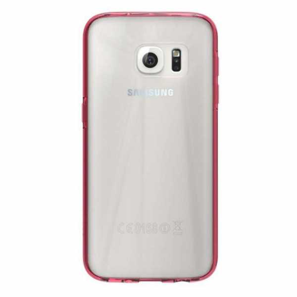 Samsung Galaxy S7 Hülle - Skech - Crystal Case - transparent-rot - yourmobile.ch