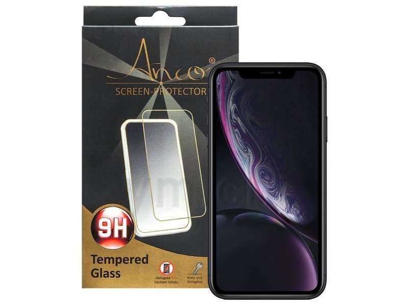 Image of Anco Apple iPhone XR Glass - Tempered Glass Screen Protector - Härtegrad 9H