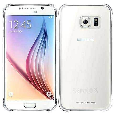 Samsung Galaxy S6 Hülle - Samsung - Clear Cover - silber - yourmobile.ch  - 24683