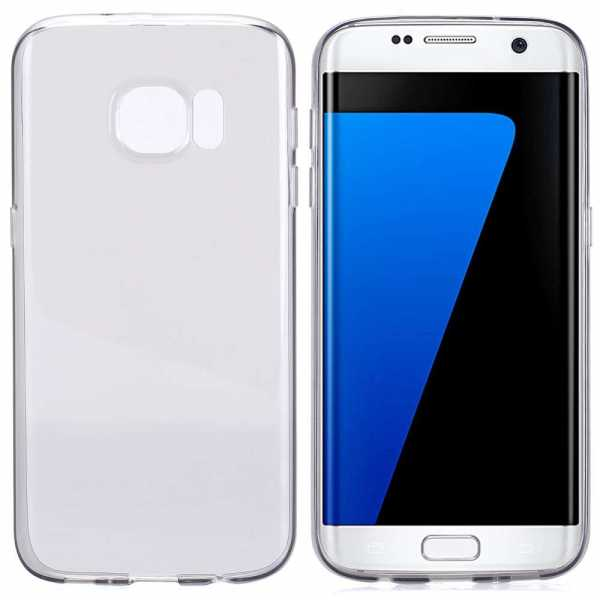 Samsung Galaxy S7 Edge Hülle - TPU Cover - FeatherLine - transparent-schwarz - yourmobile.ch