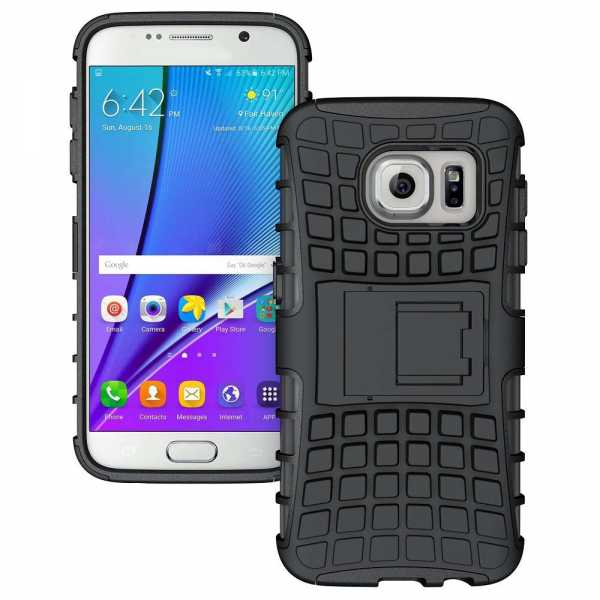 Samsung Galaxy S7 Edge Hülle - Survivor - 2in1 Stand Back Cover - TPU Case - schwarz - yourmobile.ch -T-SSG9300-4001H-1 (1)Samsung Galaxy S7 Hülle - Survivor - 2in1 Stand Back Cover - TPU Case - schwarz - yourmobile.ch