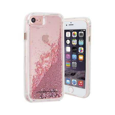 Apple iPhone 7 / 6S / 6 Hülle - case-mate - Naked Tough Waterfall Case - transparent / rosé - yourmobile.ch