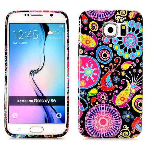 Samsung Galaxy S6 Hülle - TPU Cover - Bunte Fische Edition - yourmobile.ch 1