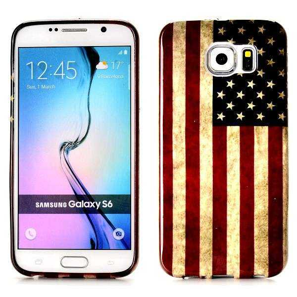 Samsung Galaxy S6 Hülle - TPU Cover - USA Edition - yourmobile.ch 1