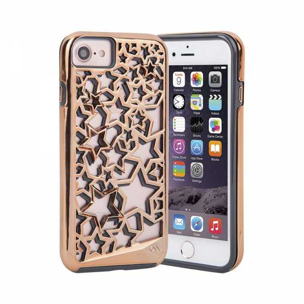 Apple iPhone 7 / 6S / 6 Hülle - case-mate - Tough Layers Star Case - gold - yourmobile.ch