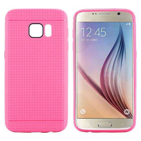 Samsung Galaxy S7 Hülle - TPU Cover - Honeycomb - pink - yourmobile.ch