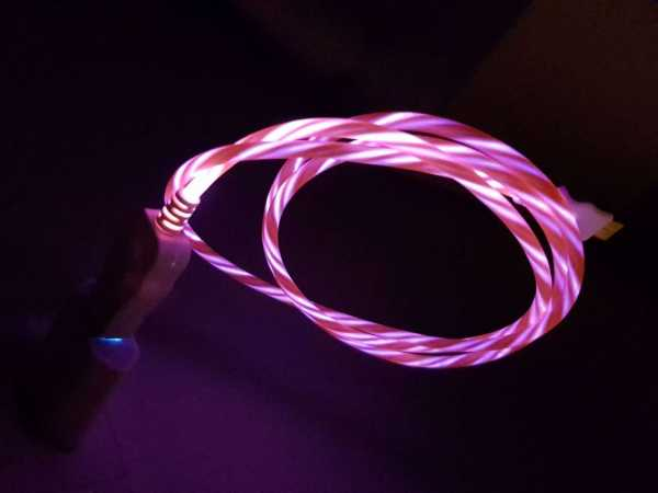 iPhone Lightning LED Leucht Lade- und Datenkabel - Lightning / USB-A - 1m - rot