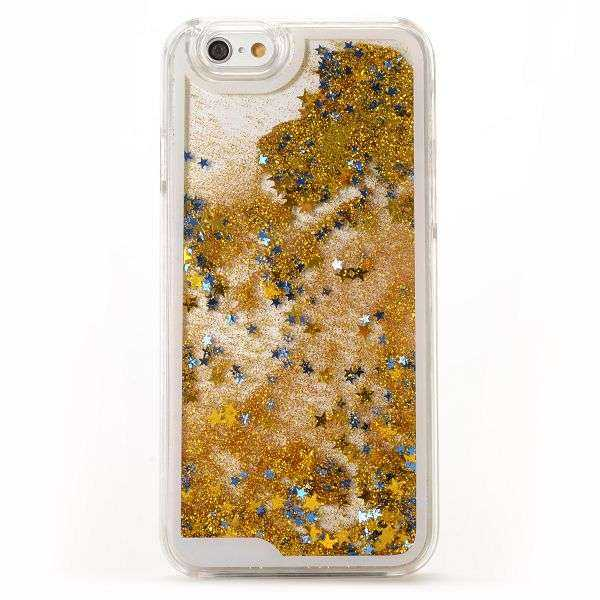 Apple iPhone 6  6S Hülle - Hard Case - Dynamic Glitter and Stars - gold - yourmobile.ch